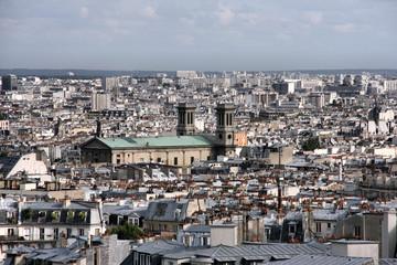Paris cityscape seen from Montmartre