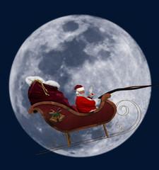 Full Moon Santa