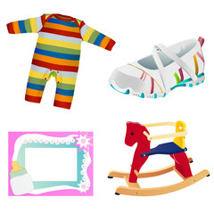 baby objects vector 1