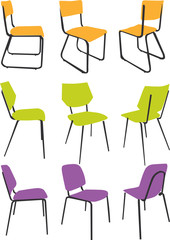 nice design chair collection with bright color