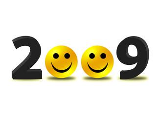 """""""Be happy, 2009!"""""""