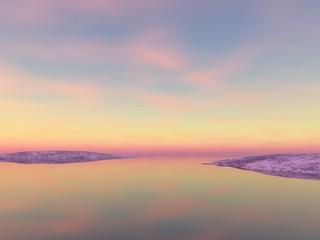 Sonnenuntergang über dem Meer