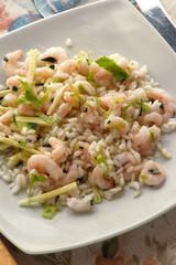 Insalata di riso ai gamberi - Antipasti di pesce