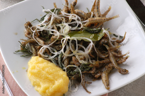 Sisàm e polenta - Antipasti di pesce - Cucina del Veneto\