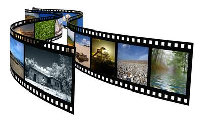 Film on a white