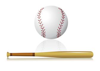 pelota y bate de beisbol