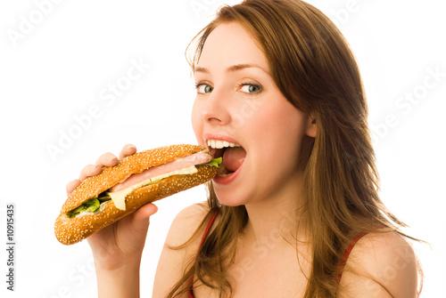 sensational woman is eating hotdog and getting banged  348502