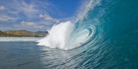 Autocollant pour porte Eau Wave Day