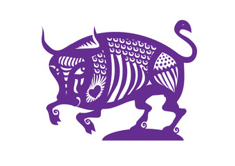 horoscope sign Taurus decorative