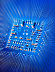 blue microchip