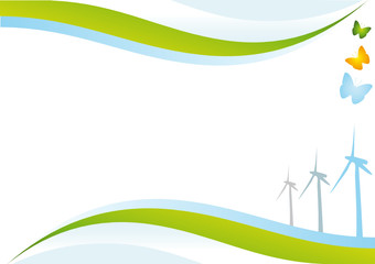 Eco energy background.