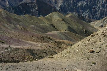 Ladakh - Paysage de montagne vers Rizong