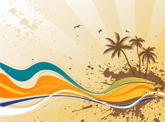 Summer background. Four seasons series.