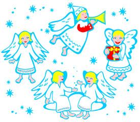 cartoon angels