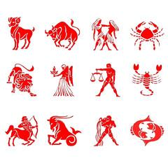 signos del zodiaco en relieve