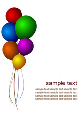 colorful balloons party invitation