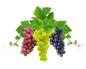 Three fresh grapes