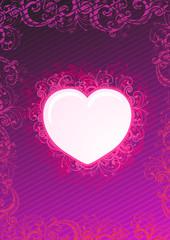 Illustration of floral heart