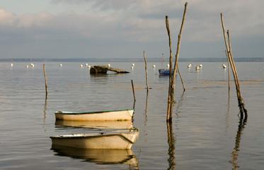barques sur le Bassin d'Arcachon