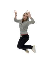 jumping merrily girl