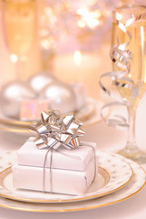 Table Setting With Presents