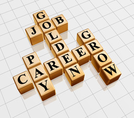golden crossword - job, career, grow, pay