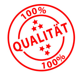 "Stamp ""100% Qualität"""