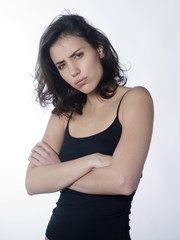 angry woman with crossed arms