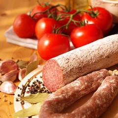 Salami and Tomatoes