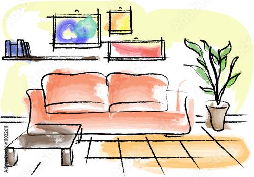 """""""Disegno arredamento soggiorno"""" Stock image and royalty-free vector files on Fotolia.com - Pic ..."""