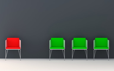 Chairs 3d rendering