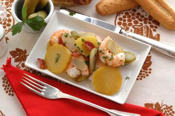 Gamberi con le patate - Secondi di pesce - Trentino Alto A.