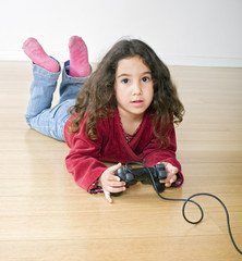 young girl playstation