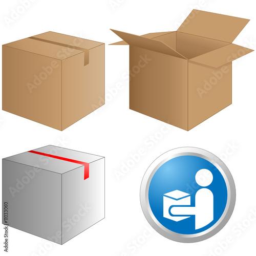 paket post paketzusteller button stockfotos und lizenzfreie vektoren auf bild. Black Bedroom Furniture Sets. Home Design Ideas