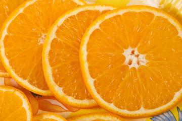 Several pieces of orange