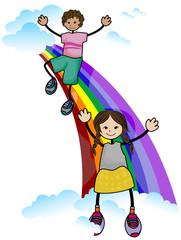 Poster Regenboog Rainbow Kids