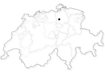 Schweiz - Umriss