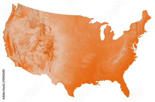 USA Map with Terrain\