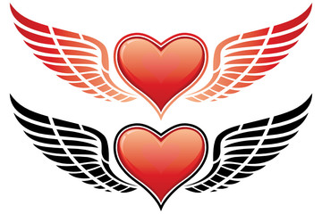 Valentine's Day Heart with wing