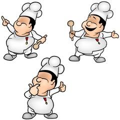Cook Set 1 - colored cartoon illustrations