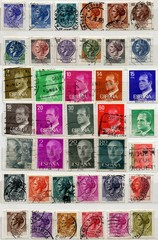 Italian and Spanish old stamps