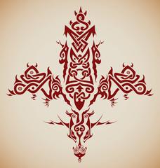 Stylized tribal Celtic inspired cross / tattoo