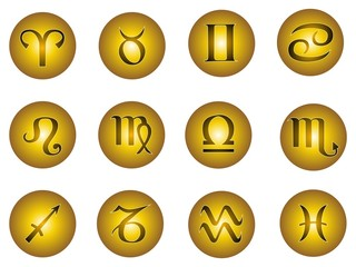 segni zodiaco bottone