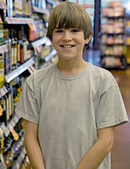 Boy at the Grocery Store