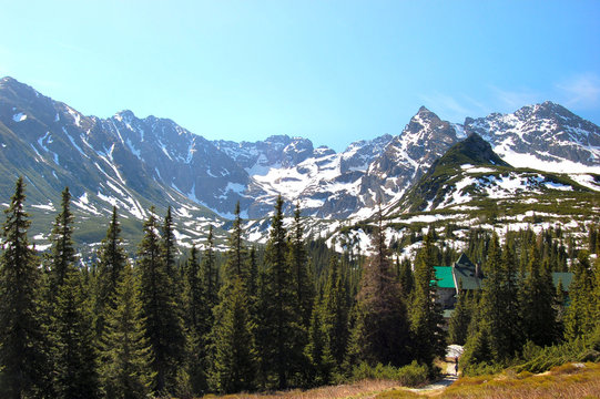 Orla Perc chain in polish Tatra mountains