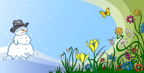 Frühling verdrängt den Winter