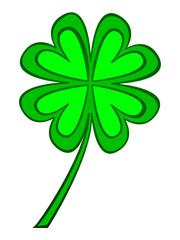 Vector of a four-leaf clover
