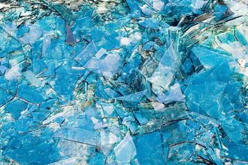 Broken multicolored glass background