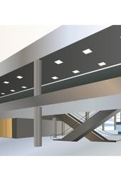 Ground floor of shopping center vector