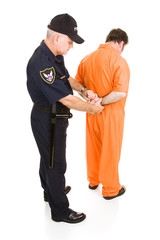 Prisoner Handcuffed by Policeman